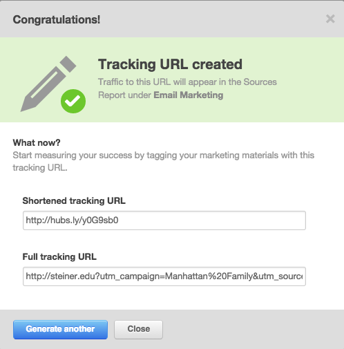 How to create a tracking URL in Hubspot | Stacy Duval